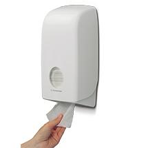 Toilettenpapier-Spender Kimberly-Clark. Einzelblattsystem