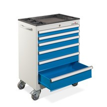 Tool trolley, 6 drawer cabinet, 700 x 450 x 930