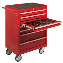 Tool trolley, compartment + 4 drawers, Steinbock®