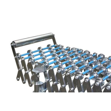 Tope de extremo para transportador de rodillos de tijera, fijo