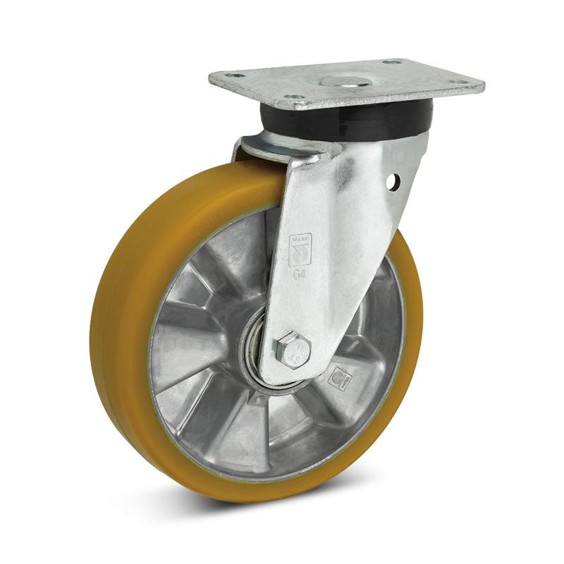 Topthane® Polyurethan-Lenkrollen Premium. Tragkraft 360 - 700 kg