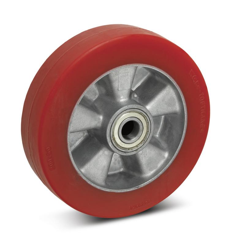Topthane® Soft-Polyurethan-Räder Premium. Tragkraft 270 - 700 kg