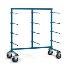 Tragarmwagen fetra® einseitig mit 12 Tragarmen. Tragkraft 500 kg