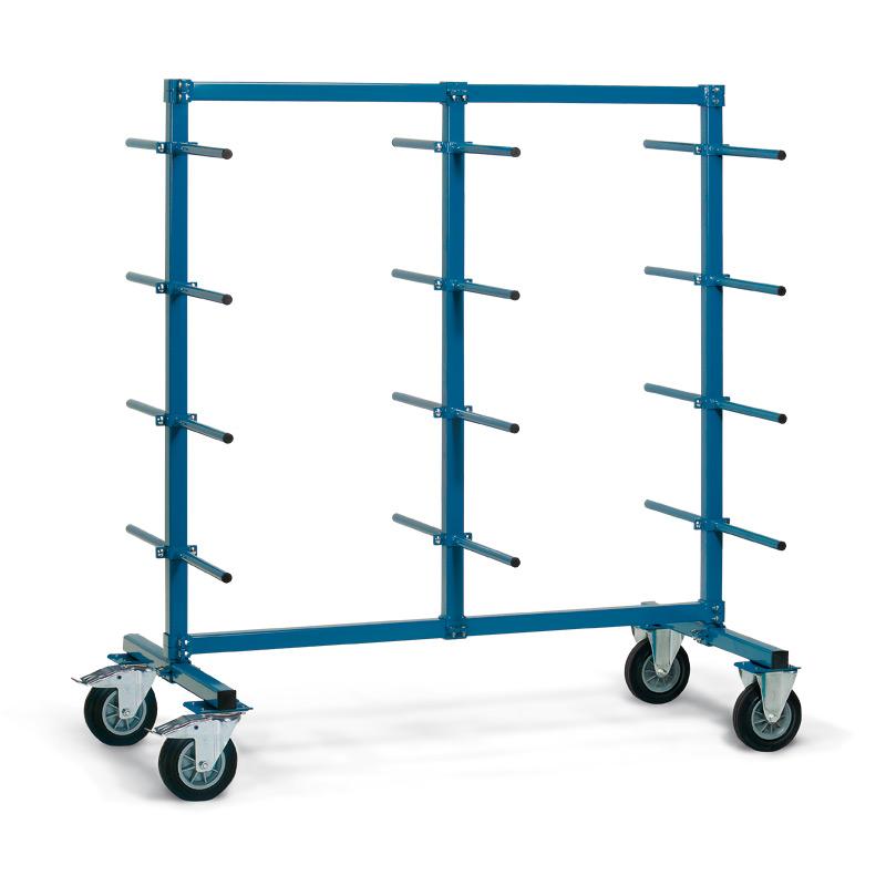 Tragarmwagen fetra® zweiseitig mit 24 Tragarmen. Tragkraft 500 kg