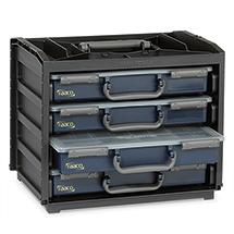 Tragebox-Set: Box inklusive 4 Sortimentskoffer Assorter