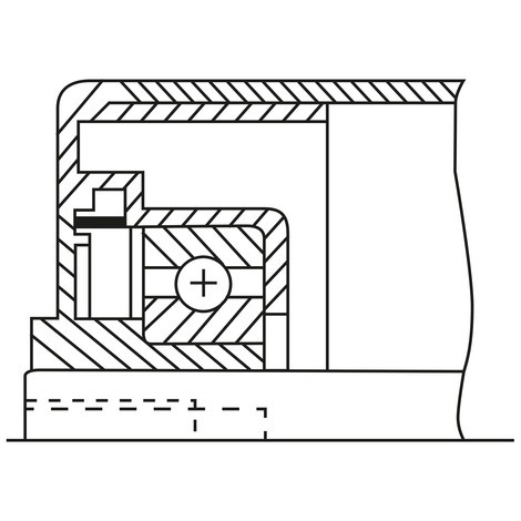 Tragrolle für Rollenbahnen, Kunststoff, Feder-/Gewindeachse