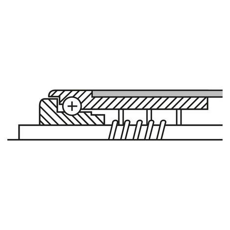 Tragrolle für Rollenbahnen, Kunststoff, Federachse