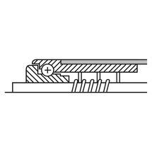 Tragrolle für Rollenbahnen, Kunststoff, Federachse, Ø 50 mm