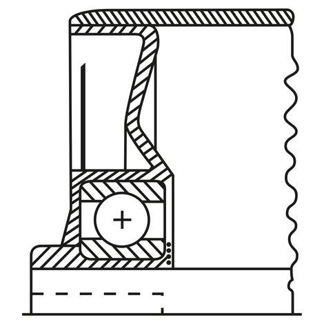 Tragrolle für Rollenbahnen, Stahl, Feder-/Gewindeachse