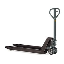 Transpaleta manual Aktion, capacidad de carga 2.000 kg, longitud de horquilla 1.150 mm, caucho/nailon, rodillos simples