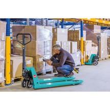 Transpaleta manual Ameise® PTM 2.5/3.0, capacidad de carga de 2.500/3.000 kg, longitud de horquillas 1150 mm