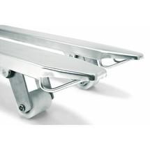 Transpaleta manual de acero inoxidable Jungheinrich AM I20 con anchura especial de la horquilla 680 mm, horquilla corta