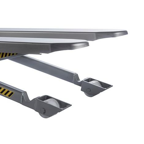 Transpalette à ciseaux INOX PRO en acier inoxydable avec levage rapide