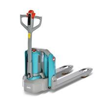 Transpalette électrique Ameise® PTE 1.5 - lithium-ions, capacité de charge 1500 kg, largeur de prise spéciale des fourches 685 mm