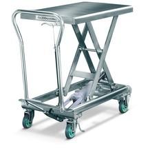 Transpallet a pantografo con piano elevatore in acciaio inox
