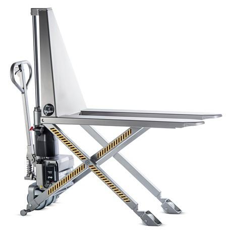 Transpallet a pantografo in acciaio INOX - elettroidraulico