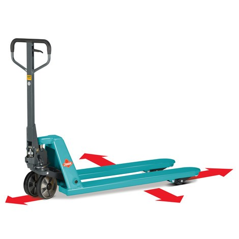 Transpallet manuale Ameise® PTM 2.5 a 4 vie