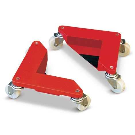 Transport rollers, rolling corners with solid rubber steering castors