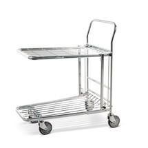 Transport-/zelbedienigswagen met klapbare bodem. Capaciteit 300 kg