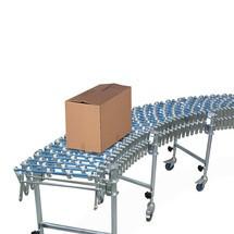 Transportador de roletes em tesoura