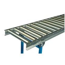 Transportador de rolos leve, rolos de aço tubulares