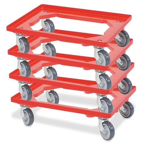 Transporter na kółkach do pojemników do składowania piętrowego Euro