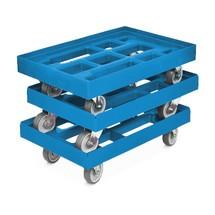 Transporter na kółkach z polietylenu do pojemników Euro