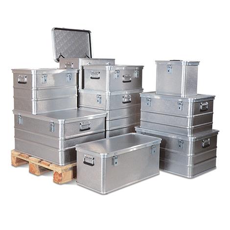 Transportkiste Profi aus Aluminium mit Deckel. Inhalt bis 239 Liter