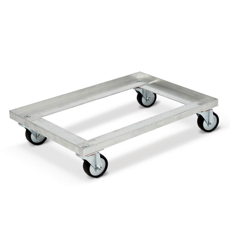 Transportroller aus Aluminium für Eurokösten. Tragkraft 300 kg