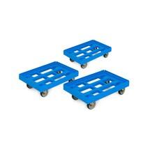Transportroller aus HDPE für Eurokästen, 3er Set