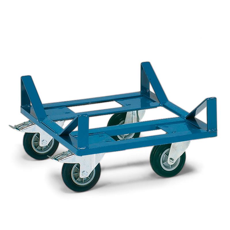 Transportroller fetra® für Ballen, Tragkraft 400 kg, 500x500mm