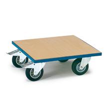 Transportroller fetra® mit Holzplattform, Tragkraft bis 400 kg
