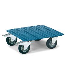 Transportroller fetra® mit Tränenblechplattform, Tragkraft 400 kg, 500x500mm