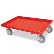 Transportroller für Eurobehälter 600 x 400 mm, geschlossenes Deck