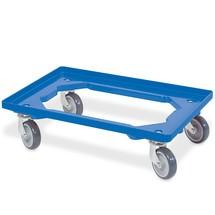 Transportroller voor euro-stapelbakken