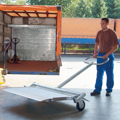 Transportwagen für bewegliche Verladebrücke 1250 oder 1500 mm