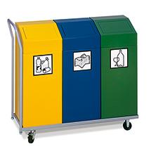 Transportwagen für Wertstoffsammler 81 Liter