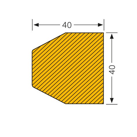 Trapez-formet fladebeskyttelse, selvklæbende