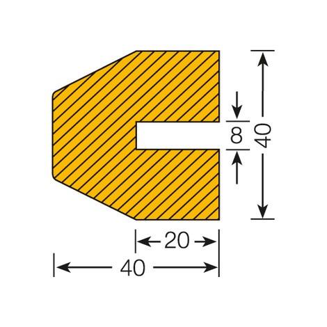 Trapez-formet profilbeskyttelse, til stikmontering
