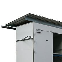 Trapezblechdach für Regalcontainer F90