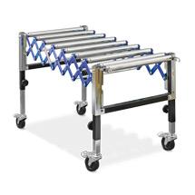Trasportatore a rulli tipo fisarmonica Ameise®. Capacità 180 kg, lato 500 mm