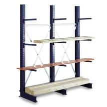 Travée auxiliaire rayonnage Cantilever META, unilatéral, capacité de charge jusqu'à 430 kg