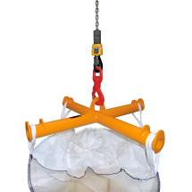 Traverse för BIG BAG, kran hållare, lastkapacitet 2.000 kg, målade