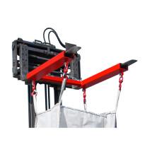 Traverse für BIG BAG, Stapleraufnahme mit 4 Wirbellasthaken, TK 1.250 kg, lackiert