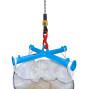 Traverse til BIG BAG, kran holder, belastningskapacitet 2.000 kg, malet