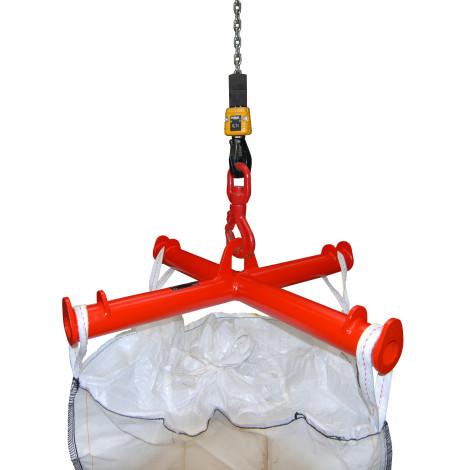 Traverse voor BIG BAG, hijsopname, cap. 2.000 kg, gelakt