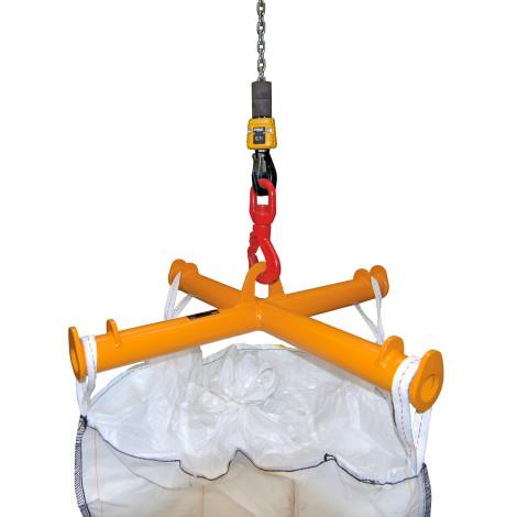 Traverz pre BIG BAG, držiak žeriavu, nosnosť 2.000 kg, maľovaný