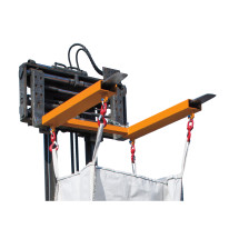 Traverza na BIG BAG, uchycení na vysokozdvižný vozík se 4otočnými háky