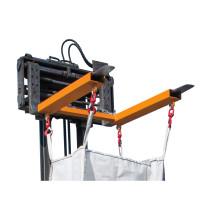 Travesaño para BIG BAG, argolla para carretilla elevadora con 4 ganchos de carga con clavija, capacidad de carga: 1.250kg, pintado