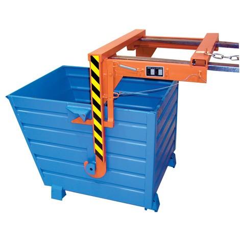 Travessa para recipientes basculantes empilháveis, volume 0,9 m³